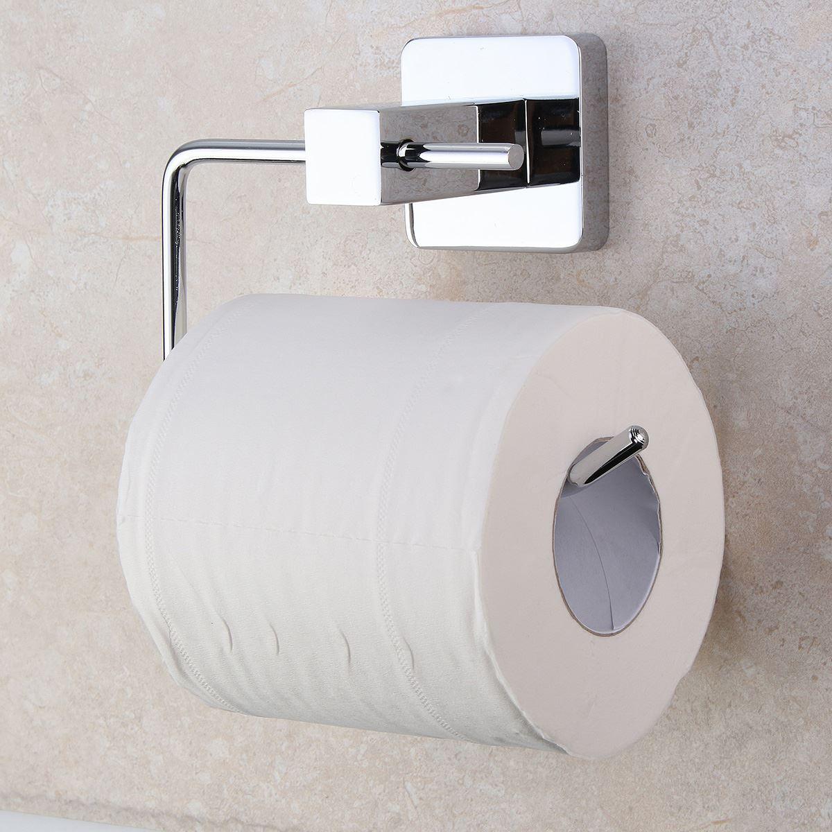 Bathroom Chrome Plated Toilet Paper Roll Tissue Holder Bar