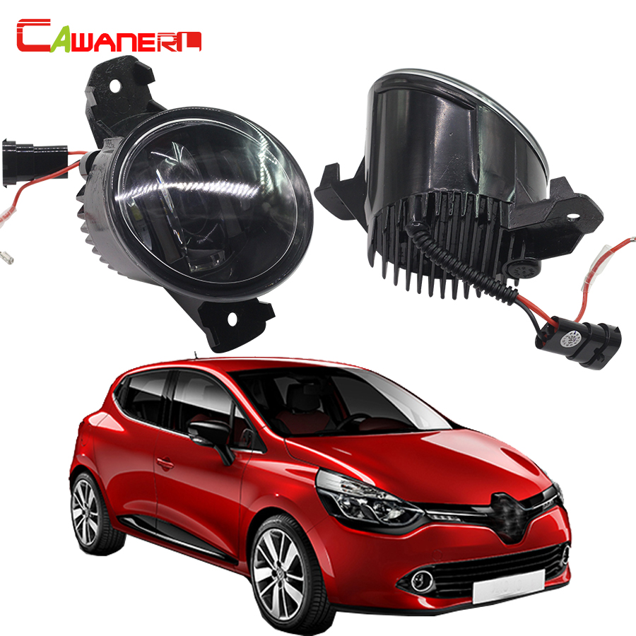 Cawanerl 2 X Car LED Light Source Fog Light DRL Daytime Running Lamp For 2005-2015 Renault Clio 3 III (BR01. CR01) Hatchback