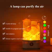 Novelty Exotic M4 Himalayan Crystal Salt Night Light Lamp 3W USB Power 7 colors Bedside lamp Anti radiation Purify the air Gift