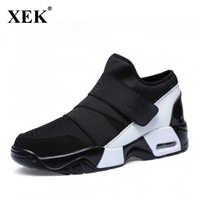 XEK nuevo zapato ocasional Unisex aire respirable Casual moda Krasovki boty calcados obuv Tenisky plano aumentar zapatos WFQ103