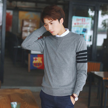 Hot Men Pullover Stretch Wool Softness Casual Sweater Cotton Slim Rib bottom pendulum  Jumpers Sweaters Clothing