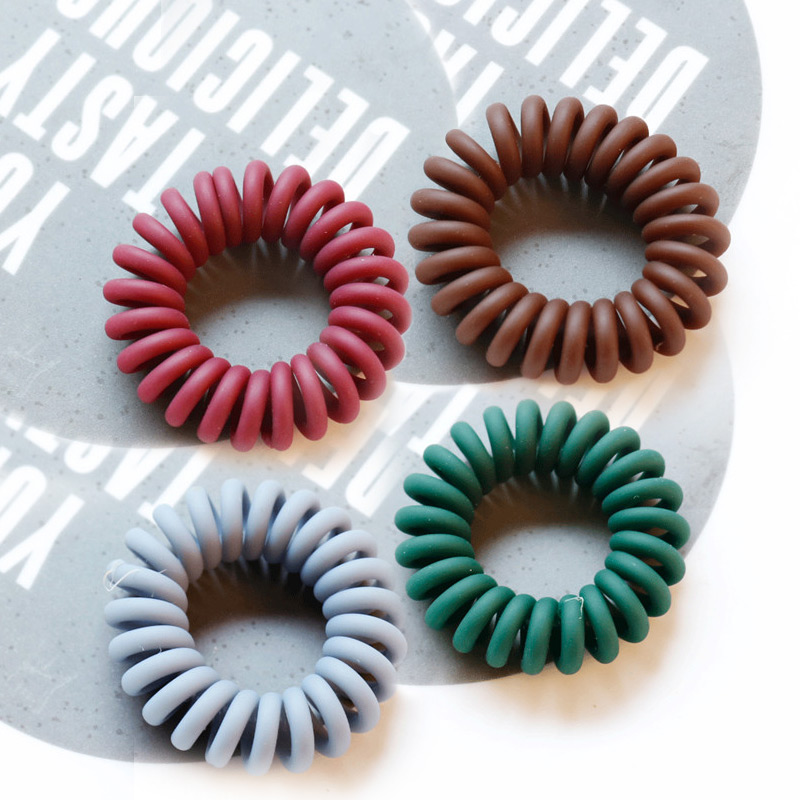 Adjustable Fashion Telephone Wire For Kids Hair Ties Hair Ring 1PC/2PCS 10 Colors  Elastic