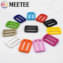 100/200pcs Meetee 25mm Plastic Curved Tri-Glide Slider Adjustable Ring Buckle Outdoor Backpack Strap Dog Collar Accessory