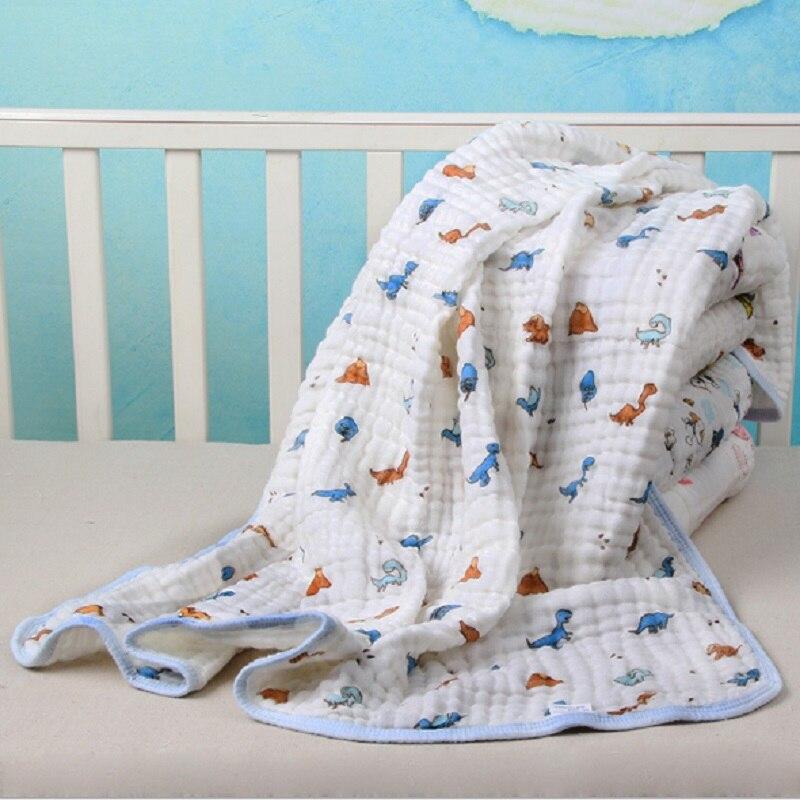 100% Baumwolle 6 Schichten Musselin Bebe Swaddle Decke Neugeborene Baby Badetuch Baumwolle Gaze Neue Geboren Handtücher Ultra Weichen Handtuch 70*140 Cm