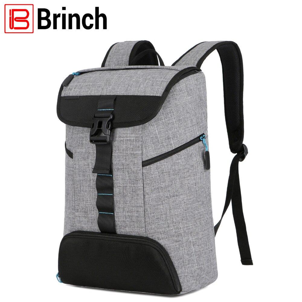 Бринч ноутбук рюкзак 17,3 дюймов для Для женщин Для мужчин многофункциональный школьная сумка Повседневная рюкзака Студенческая сумка с обу...