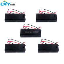 цена на 5pcs/lot 3V Battery Holder Box Case Cover with ON/OFF Switch for 2pcs AAA Battery