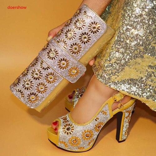 Mode königliches Tly1 Zusammenpassende rot Für Schuh gold silber Nigerian Schuhe Partei Schwarzes Und Design Set Italienisches Afrikanische Frauen 1 Tasche Doershow Blau X6qR7UwF