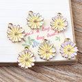 Newest Enamel Daisy Flower Chams Gold Tone Alloy Metal DIY Jewelry Findings Fashion Bracelet Necklace Earring Keychains Pendant