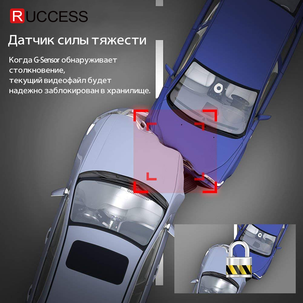 Ruccess 2.7 Anti Rivelatore Auto Del Radar per La Russia con Il Gps Polizia Radar Della Macchina Fotografica 170 Gradi Auto Dvr Full Hd 1080P Video Recorder - 4