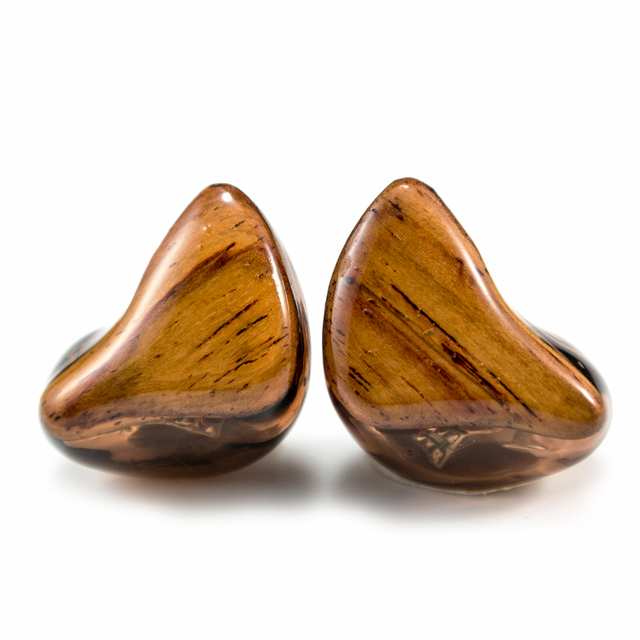 2016 Easy T4 Custom made in Ear Earphone 4 Units 3 BA With Dynamic Around Ear Earphone With MMCX Wooden Plated Earphone