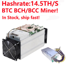 BTC BCH/BCC Miner! Битмайнер Antminer S9i-14.5T Биткойн Майнер 14.5TH/S Asic Miner 16nm Btc Miner с блоком питания
