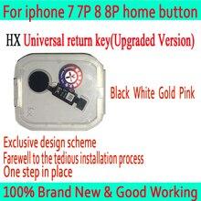 Новый HX JC Универсальный Главная Кнопка для iPhone 7/7 plus/8/8 плюс Кнопка возврата ключа сзади функции и снимок экрана без touch ID