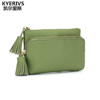 Brand Women Genuine Leather Wallet Female Quality Lady Small Purses Women Money Bag Zipper Small Coin