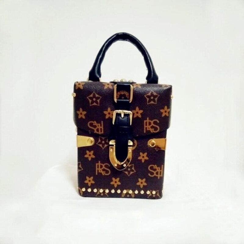 ФОТО 2017 vintage woman bag fashion handbag free shipping messenger bag top handle  flora flap PU  shoulder bag crossbody  in totes
