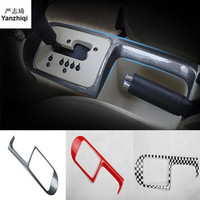 1pc Car stickers carbon fiber ABS material gear panel decoration cover for 2003 2012 Volkswagen VW Beetle