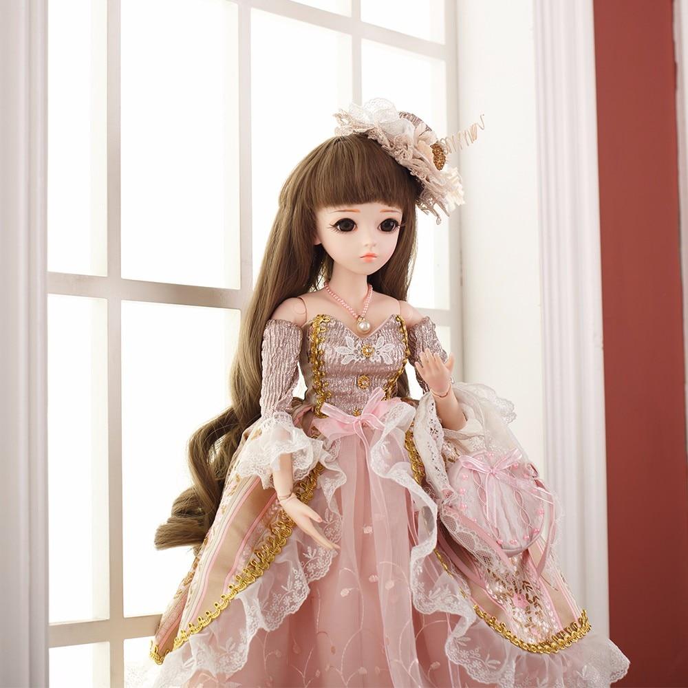 Fashin BJD Elegant Silicone Reborn Doll Toy Makeup Shop Doll Handmade Beauty Toys Girl Multiple Joints