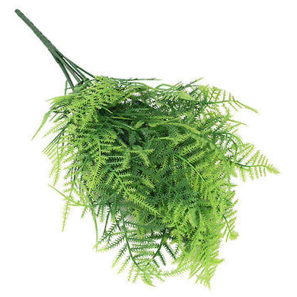 Горячая продажа Пластиковые Зеленые растения 7 стебель искусственный спаржа папоротник трава кусты цветок домашний офис декоративное растение
