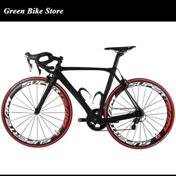 Vélo de route complet en carbone/vélo de route en carbone à 22 vitesses/prix usine vélo de route en carbone complet