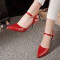 2016 Бросился Дам Schoenen Женская Обувь Женщин Высоких Пяток Женщин Насосы Sapato Chaussure Femme Zapatos Mujer Tacon Валентина 1392
