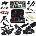 16-in-1 sports action camera kit acessórios para gopro hero 1 2 3 3 + 4 SJ4000 SJ5000 Impermeável Câmera de Vídeo com Bolsa de transporte