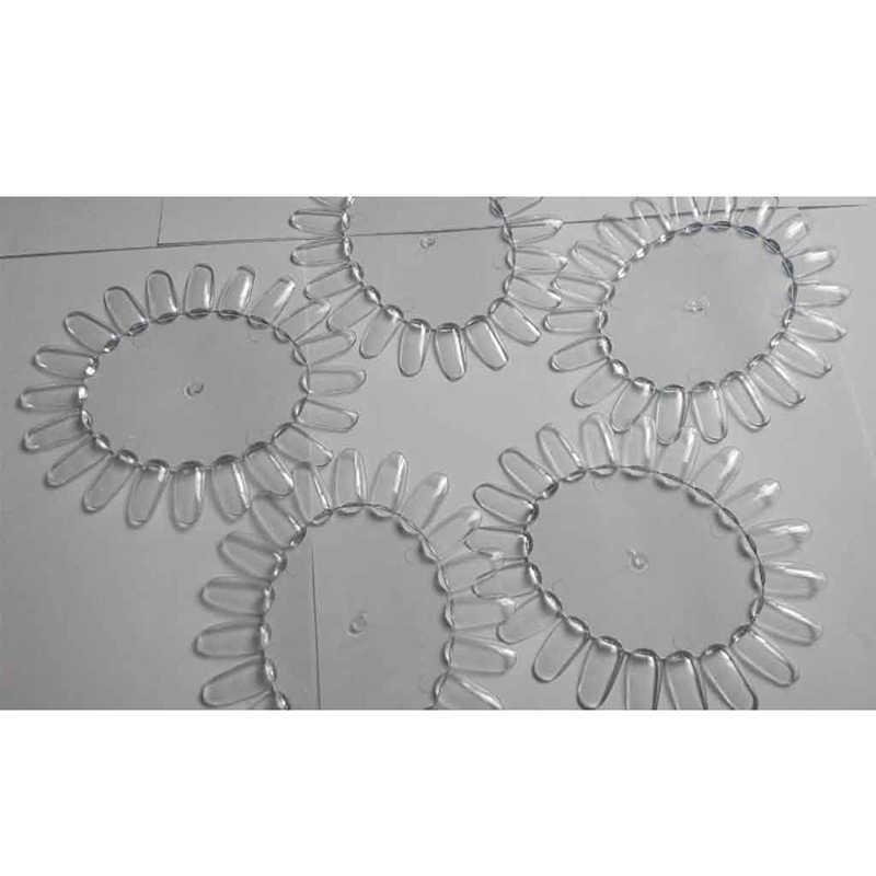 20 Pcs/Wiel Nail Art Tips Comestic Oefenronde Wheel Poolse Acryl Display Decor Transparant Valse Nagel Polygel Producten