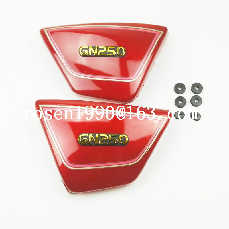 MOTERCROSS Original Right & Left Frame Side Covers Panels For Suzuki GN250 GN 250 Red Or Black For Suzuki GN250 Parts original audio note 100k double left and right channels intermediate balance potentiometer
