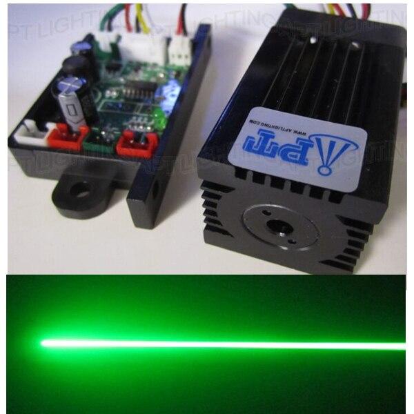 סופר לייזר יציב 200mW 532nm ירוק לייזר מודול שלב אור RGB לייזר ראש מודול דיודה לייזר TTL DC 12V luces לייזר נורות