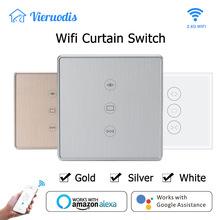 Gold/Silver Tuya Smart Life WiFi Curtain Switch for Electric Motorized Curtain Blind Roller Shutter works with Alexa&Google home