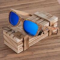 BOBO OISEAU Unisexe Carré Bambou Bois lunettes de Soleil Hommes Femmes Surdimensionné Miroir Revêtement Lunettes de Soleil UV400 Pour Cadeau