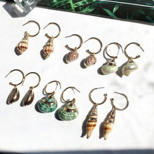 New Vintage Marine Life Gold-plated Shell Earrings For Women Summer Beach Ocean Earring Jewelry