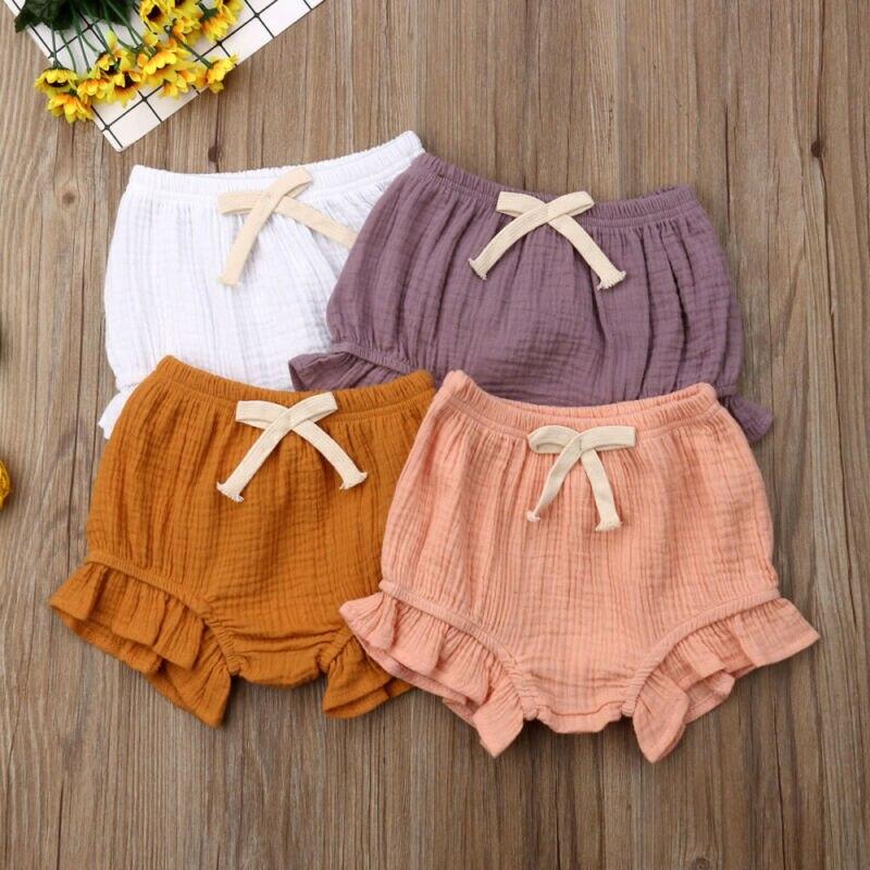 Newborn Kid Baby Girl Panties Shorts Pants Ruffle Bloomer Diaper Cover Briefs