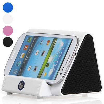 Magic Wireless Sensor Cordless Stand Induction Speaker Music Sound Box Amplifier For Mobile Phones Tablet Black White Blue Pink