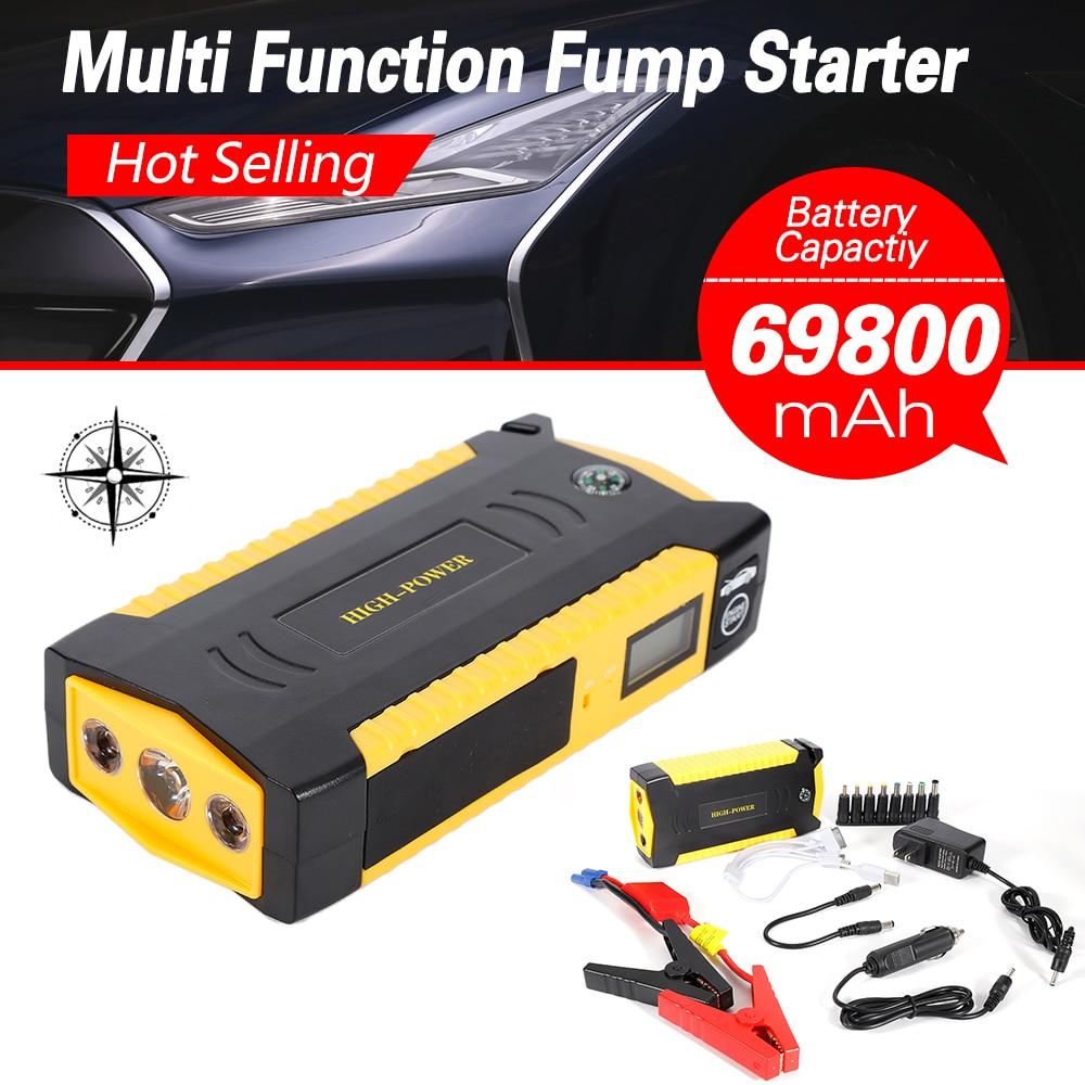 Newest 12V 69800mah Car Jump Starter Engine Booster Car Emergency Starter Car Power Bank Charger For Mobile Phones Laptops цена 2017