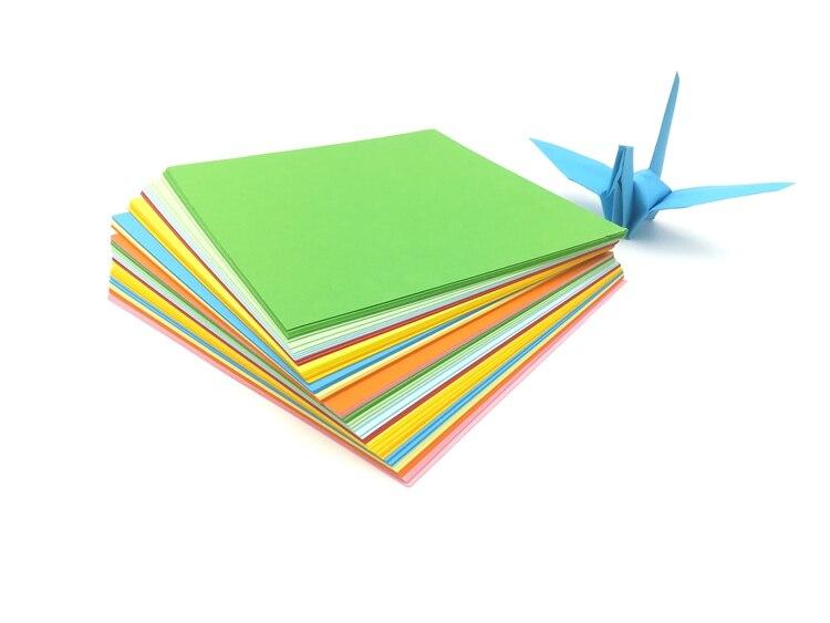 DIY creative handmade color paper for crane 15x15cm