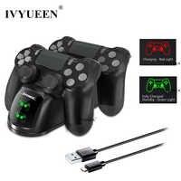 IVYUEEN Per PlayStation 4 PS4 Pro Slim Controller USB di Ricarica Veloce Caricatore Dock Station per il Dualshock 4 HA CONDOTTO LA Luce di Indicatore