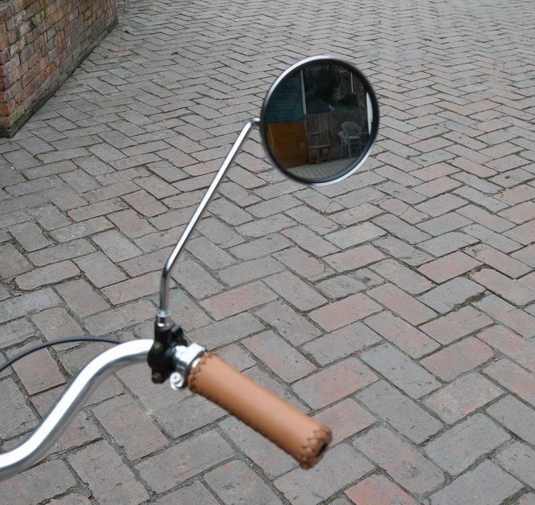A pair Vintage Bicycle permanent metal mirror side mirror stainless ...