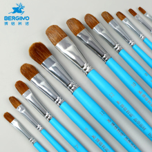 1Piece Watercolor Paint Brush Nylon Hair Painting Nail Round Oil Pen Wood Penholder Art Supplies