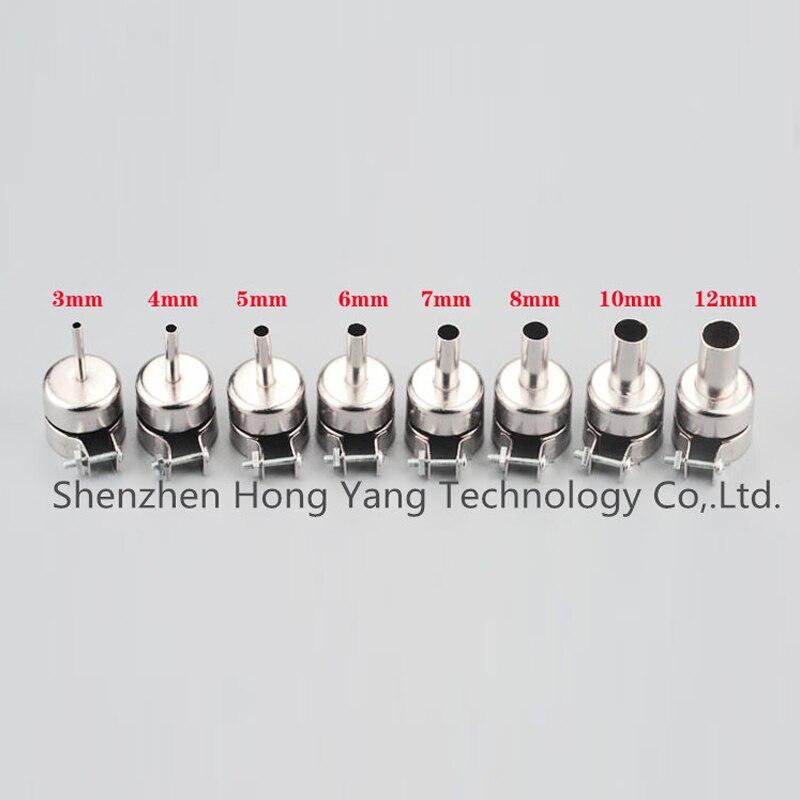 3mm-10mm Nozzle Size Soldering Heat Air Gun Circular Nozzles for 850 852D Series