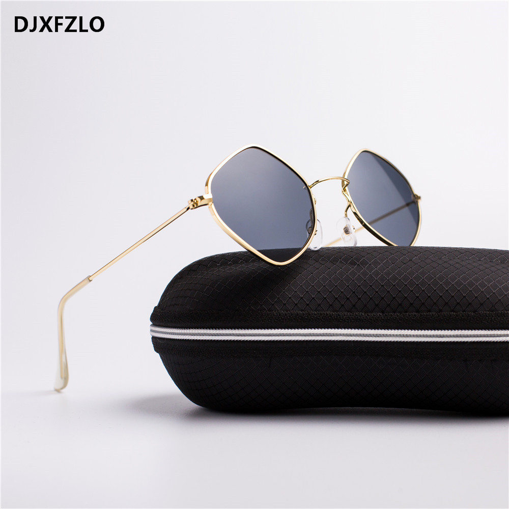 2018 New Fashion Polygon Sunglasses Women Brand Designer Vintage Sun Glasses Clear Sun Glasses Men Sexy Couple Eyewear