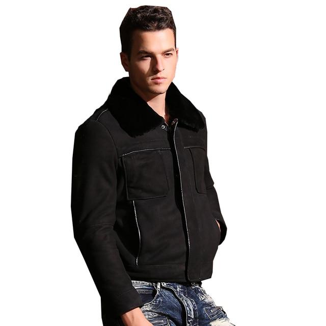Aliexpress.com : Buy Men Quality Real Sheepskin Fur Coat Genuine ...