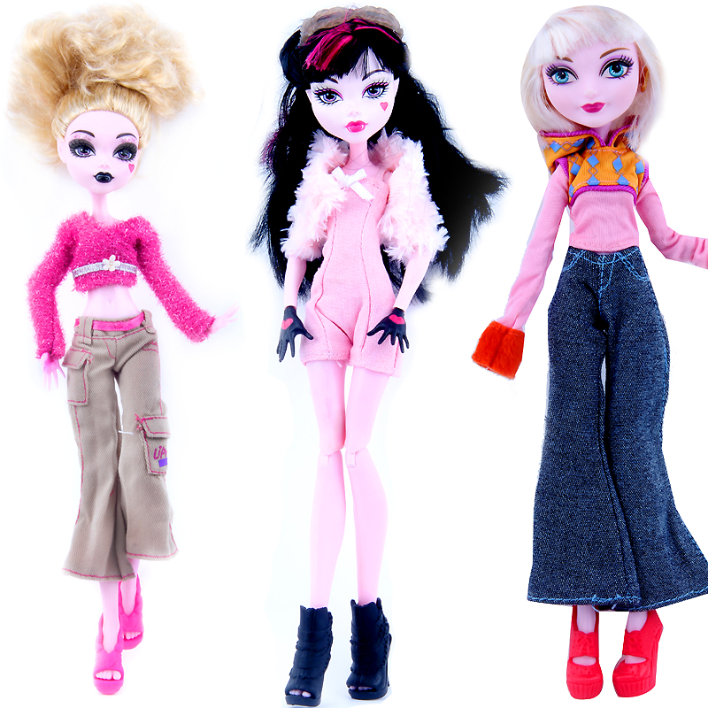 New Style Monstr Fun High Doll Ever After Draculaura Hight Moveable Joint Fashion Dolls Girls