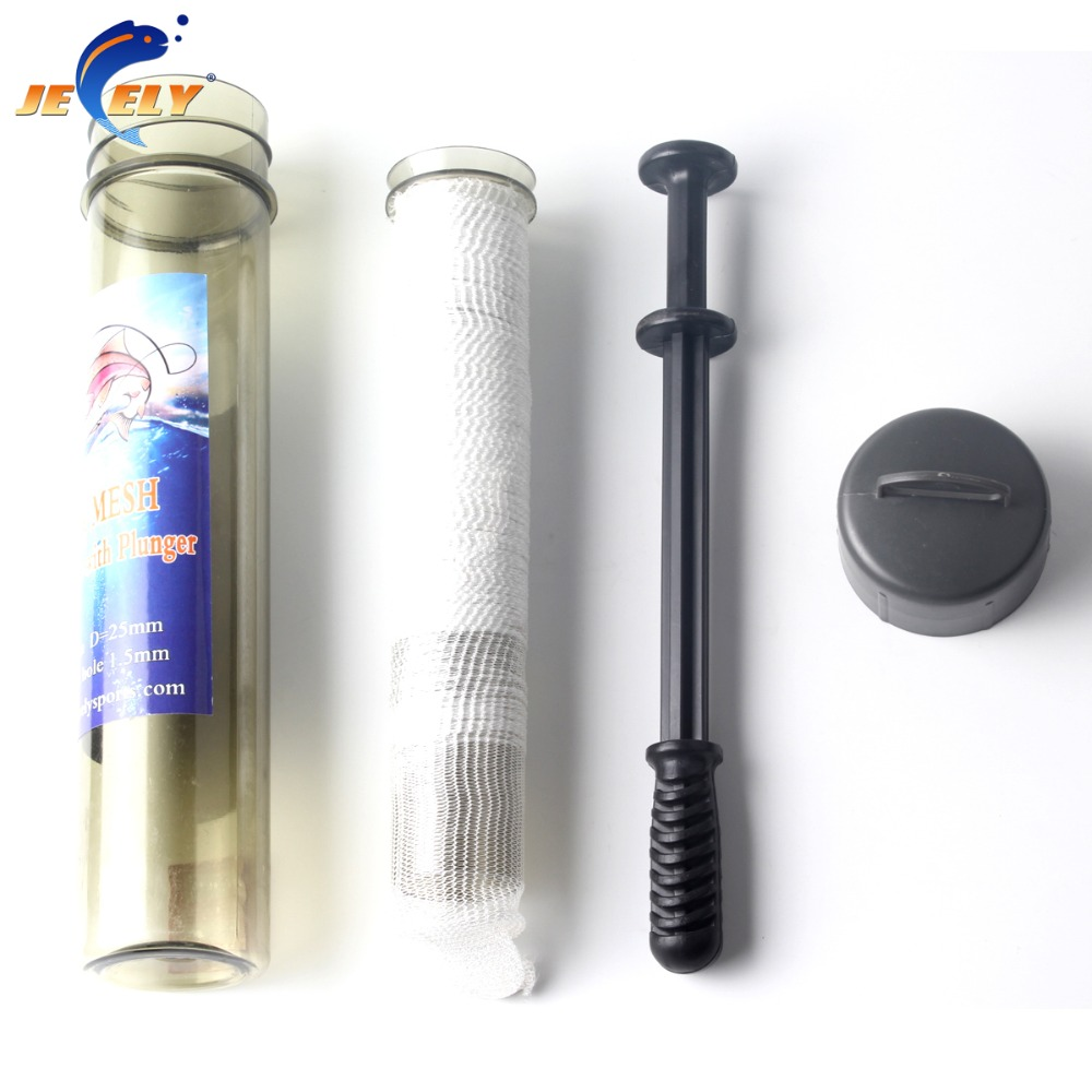 Free Shipping 25mm/37mmx5m quick solution Tube Carp Fishing PVA Mesh Refill Plunger