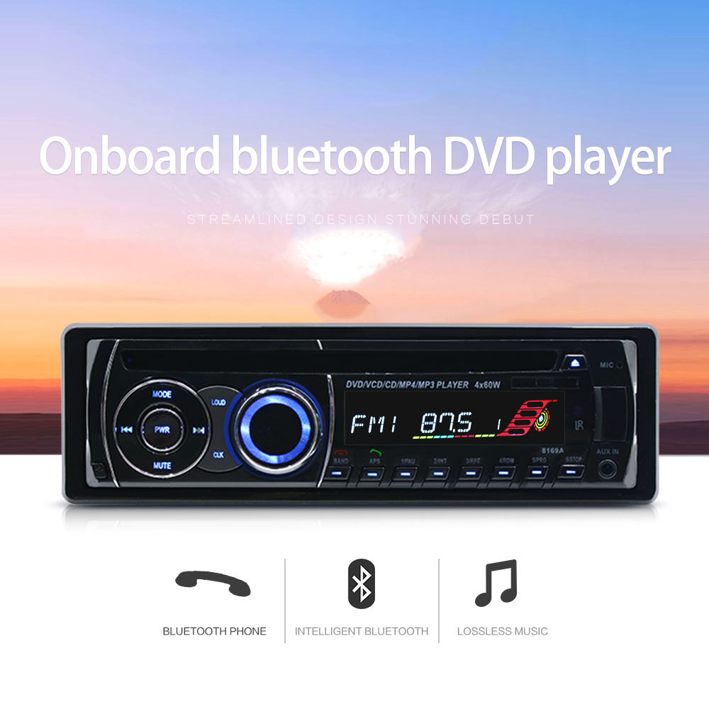 Car DVD CD MP3 Player 12V Car Audio Stereo Support USB SD Mp3 Player AUX DVD VCD CD Player with Remote Control 2018 NEW new remote control for panasonic blu ray dvd player remote controller n2qaya000131 dmpub900