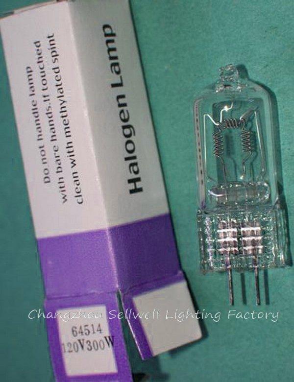 Купить с кэшбэком New!120v 300w 64514 G6.35 Halogen Lamp Bulb Light W015