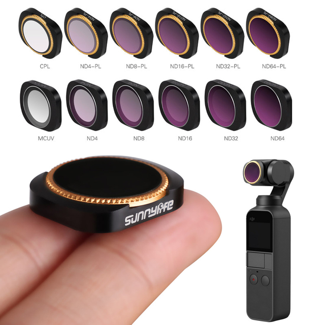 For dji osmo pocket filter nd cpl filters kit osmo pocket accessories polar nd4 8 16 32 uv osmo pocket filters