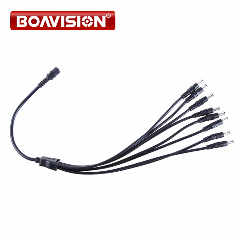 Power Supply Cable 8 In 1 Splitter Power Cable For CCTV Camera DC Power Jack Splitter Adapter Connector Cable