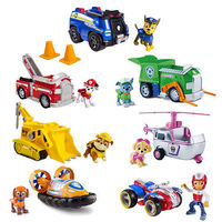 7pcs/set Genuine Paw Patrol Vehicle car and figure Spin Master Nickelodeon ryder chase marshal rescue set kids Birthday gift toy