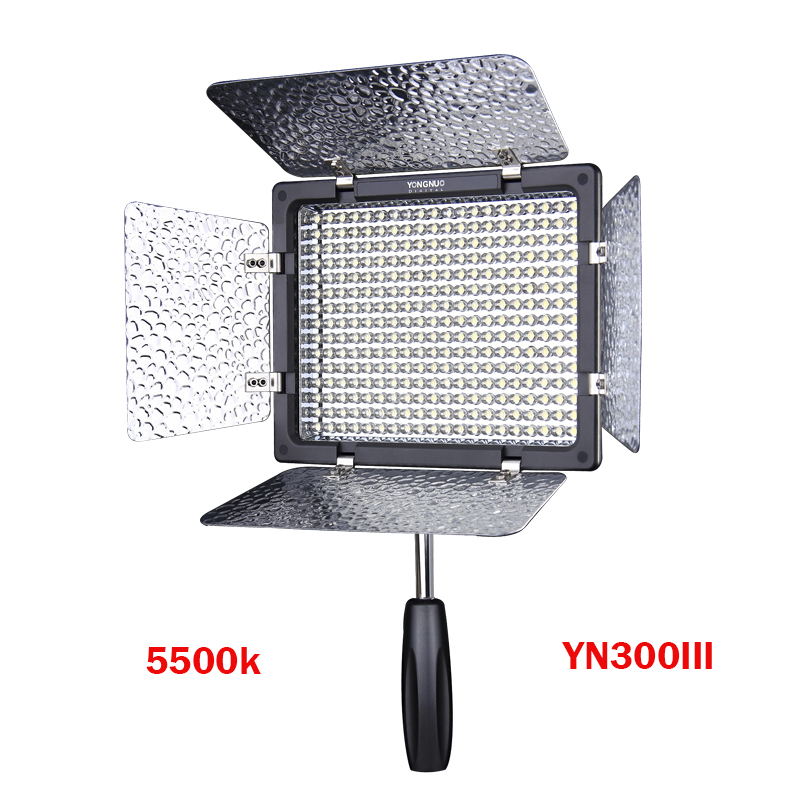 Yongnuo YN300 III YN300lIl LED Video Light 5500K CRI95 with Remote Control,Support AC Power Adapter & APP Remote for Canon Nikon travor flexible led video light fl 3060 size 30 60cm cri95 5500k with 2 4g remote control for video shooting