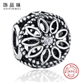 100% 925 Sterling Silver Friendship Charm Beads With CZ Fit Original Pandora Bracelet Pendant Authentic Jewelry Gift