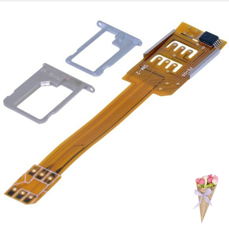 Flex Cable Ribbon Smartphone <font><b>SIM</b></font> <font><b>Card</b></font> Portable Single Standby AdapterDual <font><b>SIM</b></font> <font><b>Card</b></font> Adapter 8.4cm <font><b>x</b></font> 1.5cm. image